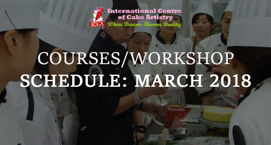 icca course schedule MARCH 2018