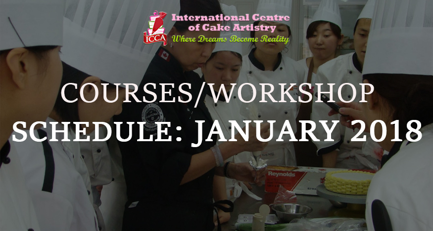 icca course schedule jan 2018