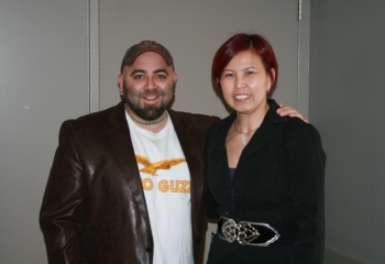 Rosalind with Duff Goldman of Ace of Cakes.